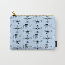 Biplanes // Light Blue Carry-All Pouch
