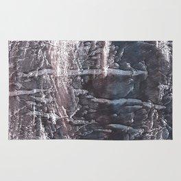 Dark slate gray colorful wash drawing texture Rug