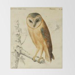 Naturalist Barn Owl Throw Blanket