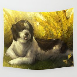 Jake: Sheepdog Portrait Wall Tapestry