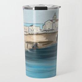 View of Vieste, Italy Travel Mug