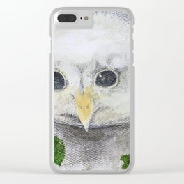 Baby Owl Clear iPhone Case