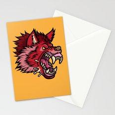 Crimson Wolf Stationery Cards