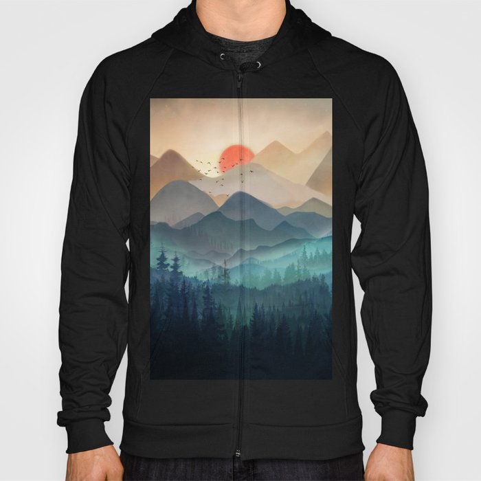Wilderness Becomes Alive at Night Hoody