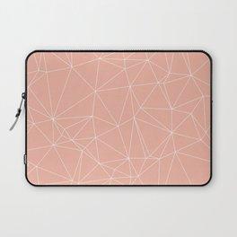 Millennial Pink Geometric Minimalist Pattern Laptop Sleeve