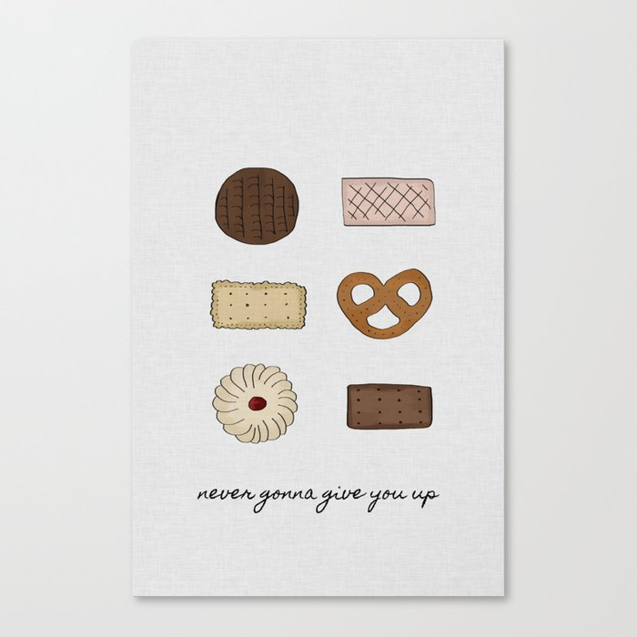 Never Gonna Give You Up, Kitchen Decor Canvas Print
