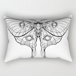 Art Nouveau Moth (white background) Rectangular Pillow