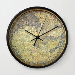 The Fra Mauro World Map Circa 1450 Wall Clock