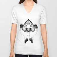 wicked V-neck T-shirts featuring Wicked by Bad Mystic