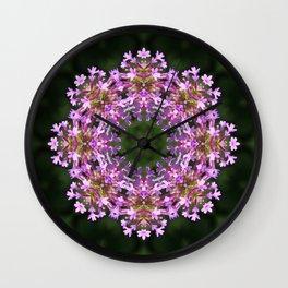 Constellation of Verbena flowers mandala Verbena bonariensis 1829 k2 Wall Clock