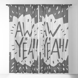 Aw Yeah! // Black and White Sheer Curtain