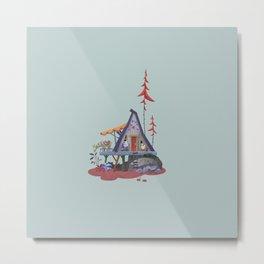 House with lama Metal Print