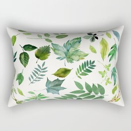 Circle of Leaves Rectangular Pillow