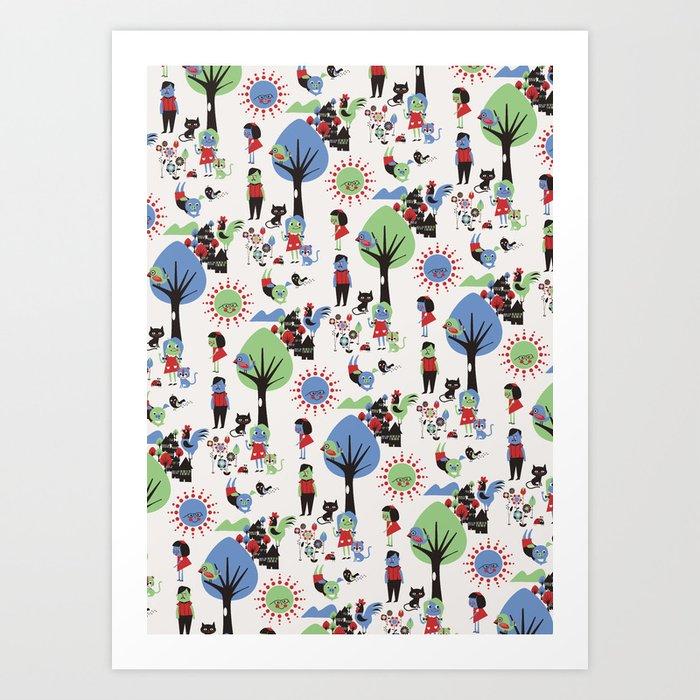 Beautiful day pattern Art Print