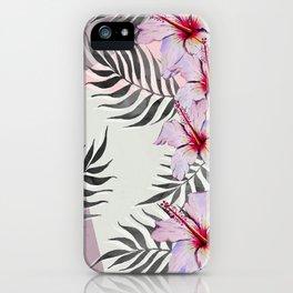 Ibiscus on Geometry iPhone Case