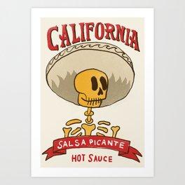 California Hot Sauce Art Print