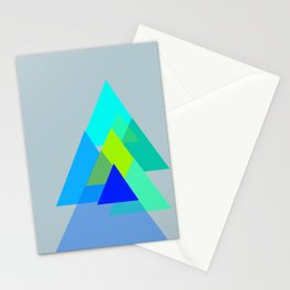 Triangles - blues color scheme Stationery Cards