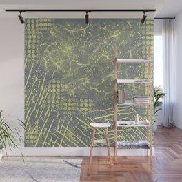 Abstract Overlay- Yellow and Gray Wall Mural