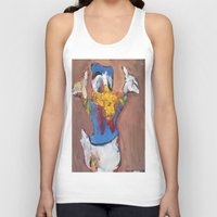 donald duck Tank Tops featuring Donald Duck diddy by Larry Caveney