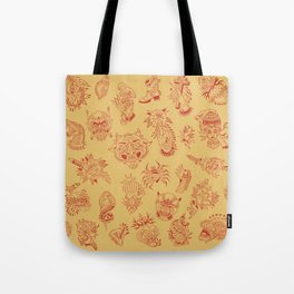 TRADITIONAL TATTOO PATTERN (COLORED) Tote Bag
