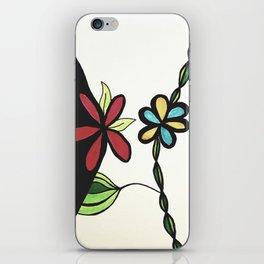 Color Block Flowers iPhone Skin