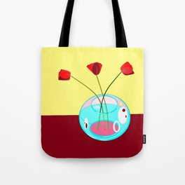 Three Tulips in a Vase Tote Bag