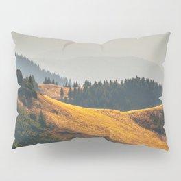 Parallax Landscape Rolling Hills Photo Nature In Morning Sunlight Pillow Sham