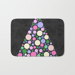 Christmas Tree Marble Bath Mat
