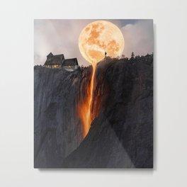 Fire Moon Manipulation Metal Print
