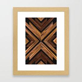 Urban Tribal Pattern 3 - Wood Framed Art Print