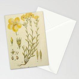 Flower linum flavum17 Stationery Cards