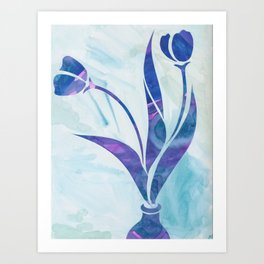 Tulips (in Color) Art Print