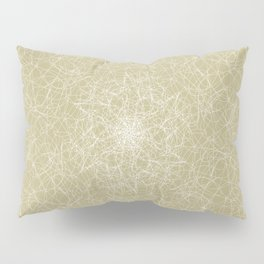 Art doodle lines, minimal and simple print on oat beige background Pillow Sham