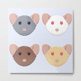 Four Rats Metal Print