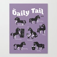 The Daily Tail Horse Canvas Print