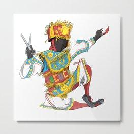 Danzante de tijeras - Scissors dancer Metal Print