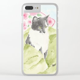 Miss Green Eyes Clear iPhone Case