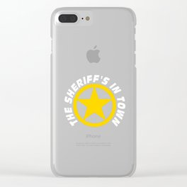 Wild West Collectible Sheriffs In Town Clear iPhone Case