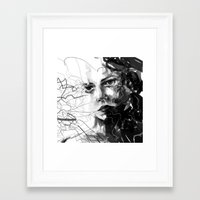 anxiety Framed Art Prints featuring Anxiety by Tsukiko-Kiyomidzu