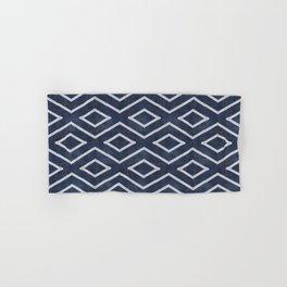 Stitch Diamond Tribal Print in Indigo Hand & Bath Towel
