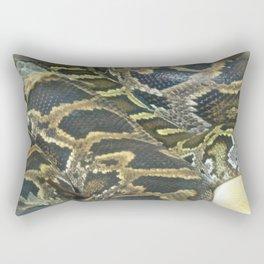 Golden Boa Rectangular Pillow