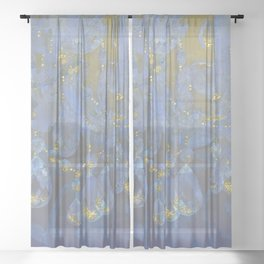 Fantasy Chandelier Champagne Ballroom Sheer Curtain