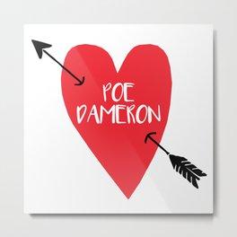 Poe Dameron Love Metal Print