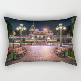 Christmas Disneyland Train Rectangular Pillow