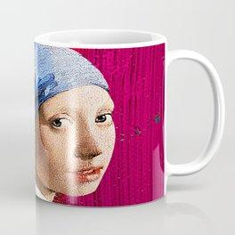 Millennial Girl Looks Back Coffee Mug
