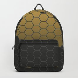 Beehive Hexagonal Geometric Heart Backpack