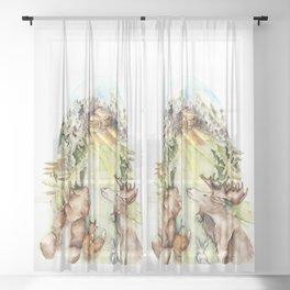 Woodland Creatures Sheer Curtain