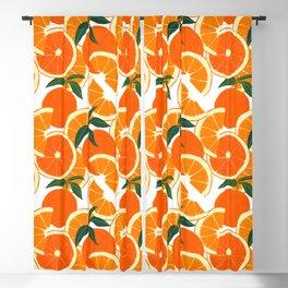 Orange Harvest - White Blackout Curtain