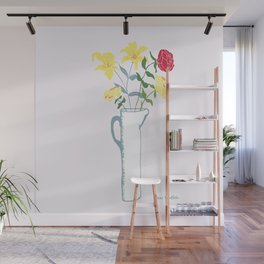 Spring Lilies and Roses Wall Mural