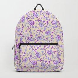 Watercolor Peonies - Peach Violet Backpack